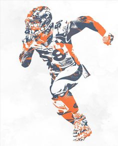 Von Miller Denver Broncos Pixel Art 30 Art Print by Joe Hamilton