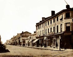 Said to be the corner of King and Yonge Streets in 1868.