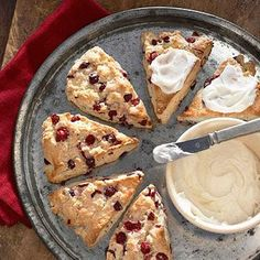 Anita's Cranberry Scones using fresh or frozen cranberries and buttermilk from Midwest Living