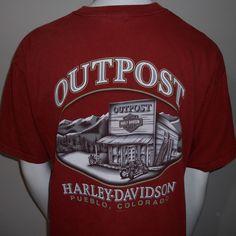 Harley-Davidson Outpost T-Shirt Extra Large Pueblo Colorado Authentic Motorcycle #HarleyDavidson #GraphicTee