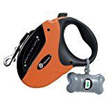 #10: TaoTronics Retractable Dog Leash 16 ft Dog Walking Leash for Medium Large Dogs up to 110lbs Tangle Free One Button Break & Lock  Dog Waste Dispenser and Bags included