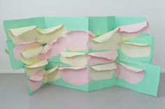 Karla black I like this idea of shaping paper, I could do this with my sea shapes.