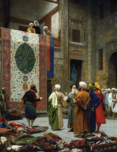 Jean Leon #Gerome - The #Carpet Merchant