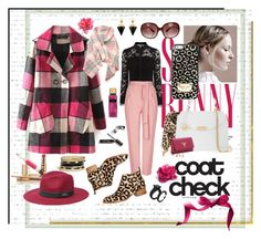 """""""coat check"""" by jennross76 ❤ liked on Polyvore featuring GUESS, BP., Topshop, Jeffrey Campbell, MICHAEL Michael Kors, Versace, Bebe, Prada, Oliver Peoples and Vita Fede"""