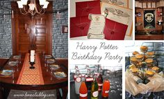 A harry potter-themed birthday party, featuring the great hall, quiddi Harry Potter Owl, Harry Potter Halloween, Harry Potter Outfits, Harry Potter Theme, Halloween Theme Decoration, Harry Potter Birthday Cake, 10th Birthday Parties, Golden Snitch, Fourth Grade
