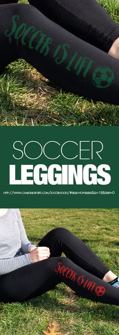 When someone asks you where you've been, you can just point to your leggings to tell them why. #soccer #leggings