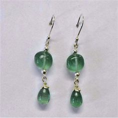 Roman glass earrings. Designer Sterling silver by Bluenoemi, $66.00