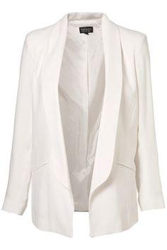 weißer langer blazer