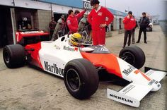 Ayrton Senna - McLaren MP4-1C 8/Ford Cosworth - 1983 testing