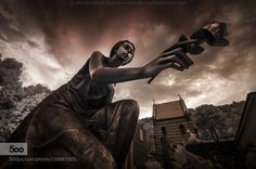 The last rose - Pinned by Mak Khalaf City and Architecture IRarchitecturecemeterydeathgravegraveyardhistoryinfrareditalymonumentstatuetomb by aghizzipanizza