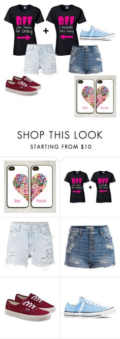 Best friend outfits by kiz-salo on Polyvore featuring Ksubi, Pieces, Vans, Converse and Samsung