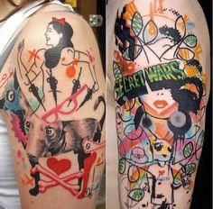 Bad ass graffiti style ink by Jeff Palumbo Soul Tattoo, Tattoo Artwork, Tattoo Magazines, Graffiti Styles, Call Art, Drip Painting, Pointillism, Logo Nasa, Magazine Art