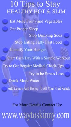 10 Tips to Stay Healthy Hot & Slim