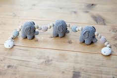 Ravelry: Ellen the Elephant Pram Chain and Rattle pattern by San Bee