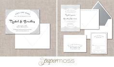 Opening Night | Modern save the date + invitation suite from The Collection- the new ready to order line from Paper Moss | modern wedding inspiration | offset | letterpress