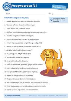 Voegwoorden [3] Einstein, Learn Dutch, Kids Education, Maria Montessori, Grammar, Spelling, Teaching, Languages, Homeschooling