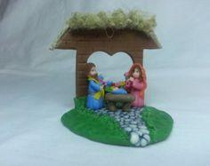 Items similar to Miniature Nativity Scene, Baby Jesus, Mary and Joseph, Angel, Star of Bethlehem,Needle Felted-Waldorf,Christmas Story- Nativity set, Holy on Etsy