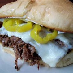Slow Cooker Italian Beef for Sandwiches Recipe - Allrecipes.com