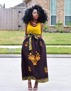 African Maxi skirt African by Veroexshop ~African fashion, Ankara, kitenge, African women dresses, African prints, African men's fashion, Nigerian style, Ghanaian fashion ~DKK