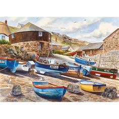 Canada Puzzles is a distributor of high quality Gibsons Jigsaw Puzzles in Canada and throughout North America, including 636 and 1000 piece puzzles by world renowned artists. B Image, Seaside Village, Old English, Line Drawing, Cool Artwork, Fine Art America, North America, Illustration, Jigsaw Puzzles