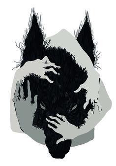 принт на толстовку. волк. print on a jacket. wolf.