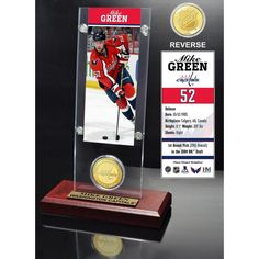 Mike Green Ticket and Bronze Coin Desktop Acrylic