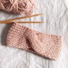 patron gratuit pour tricoter un headband au point mousse headband diy tricot gratuit et les tuto. Black Bedroom Furniture Sets. Home Design Ideas