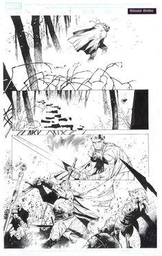 Olivier Coipel Thor #9 interior Comic Art