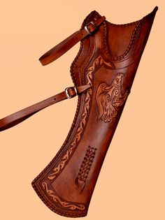Handmade leather quiver - Eagle