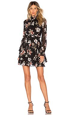 ff7b901b32d18 Great for Black Rose High Neck Mini Dress NICHOLAS womens dresses.   387   proalloffer