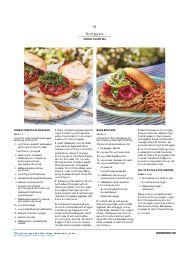 Martha Stewart Living July August 2016: Turkey meatloaf and Hake burgers
