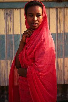 Wadi Halfa, Sudan - a Nubian woman