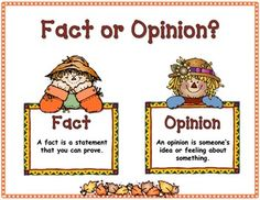 FALL FACT OR OPINION FREEBIE -  Here is a great addition to your Fall Literacy workstations! This activity/center will help your students identify Facts from Opinions. This is such an important comprehension skill for the kiddos - it helps develop discernment in all areas of their lives. Just because someone said it, or it was on TV, does not make it a fact!  This center includes:  Fact/Opinion Anchor Chart  Sorting Pumpkins  Fact cards  Opinion cards  Recording Sheets