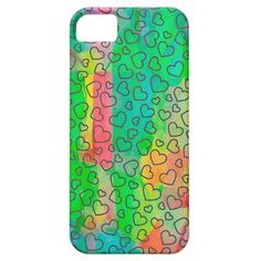 COLORFUL HEARTS IPHONE CASE COVER FOR iPhone 5/5S