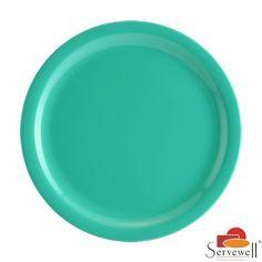 Servewell Side Plates: Buy Servewell Round Side Plate 19cm Set Of 6 Pcs - Sea Green Online | Oyekitchen.com