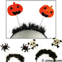 HALLOWEEN HEAD BOPPERS. Wear one of these and be the hit of the party. Assorted colors & styles. Each polybagged. Perfect for Halloween costumes and Halloween party favors.  One size fits most.