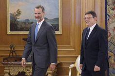Don Felipe con el presidente de la Generalitat Valenciana, Ximo Puig Palacio de La Zarzuela. Madrid, 13.07.2015