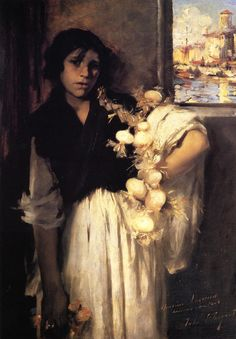 The Athenaeum - Venetian Onion Seller (John Singer Sargent - )