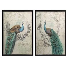 IMAX 82097-2 Panache Peacock Art - Set of 2 at discounted price with free shippping. This item is ready for screen printing and embroidery at low cost. Imaxcorp 82097 2 Panache Peacock Art Set 2SIZE:38hx26wx1.5(in.)  available colors are: ONE