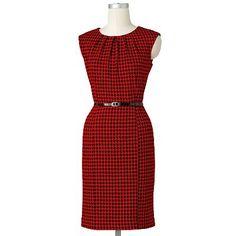 Dana Buchman Houndstooth Jacquard Sheath Dress