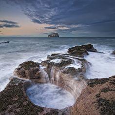 wow. Scotland. Bass Rock in back it seems