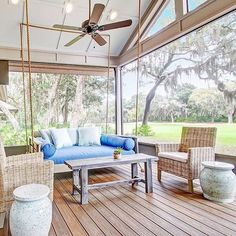 Happy Saturday! Does the beautiful fall weather have you ready to create your own sanctuary like this one? There's no better time than now... All swings are 20% off until Monday night. 📷 photo credit: @lolainteriors #createyoursanctuary #vintageporchswings #fallsale #bedswing #porchswing