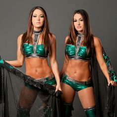 The Bella twins Wrestling Stars, Wrestling Divas, Women's Wrestling, Brie Bella Wwe, Nikki And Brie Bella, The Bella Twins, Divas Wwe, Hottest Wwe Divas, Wwe Outfits