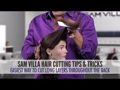Easiest Way To Cut Long Layers Throughout The Hair - YouTube