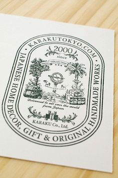 It is one of the original labels of our company. We always wanted a big stamp. Therefore this stamp label is big. When we send the parcel post of the customer, we want to use it! Label Design, Packaging Design, Graphic Design, Sea Logo, Typography Logo, Logos, Vintage Labels, Stationery Design, Design Reference