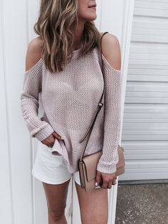 Y'all know how much I love the cold shoulder style. I think it is one of the most flatter tops…