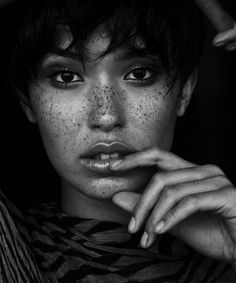"Model Felicia ""fo"" Porter female face portrait #freckles #headshot T: Fopopps"