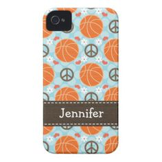 Peace Love Basketball iPhone 4 4s Case-Mate Cover iPhone 4 Covers