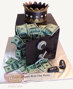 MONEY BIRTHDAY CAKE Weddingbirthdayand holiday cakes Pinterest