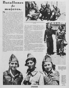 "Spain - 1936. - GC - ""Batallones de mujeres,"" - Crónica 22-11-1936"